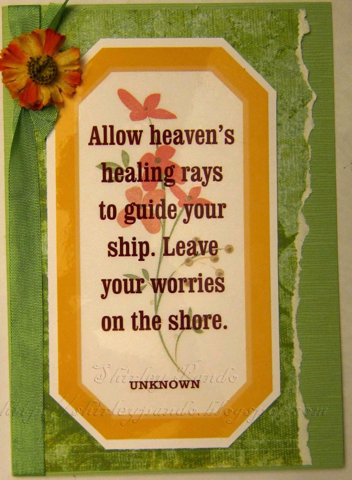 Heaven's Healing Rays card