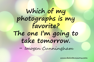 Photography Quote, Imogen Cunningham, bokeh background