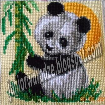 Wyszywanka krzyżykiem - Panda