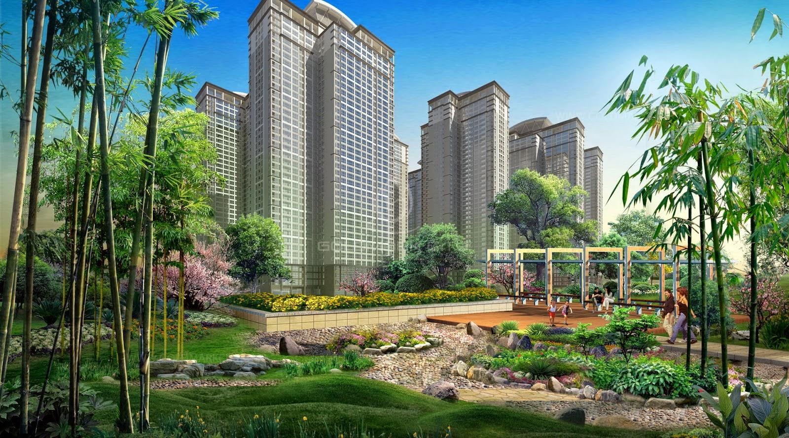 Sân vườn chung cư Goldmark City