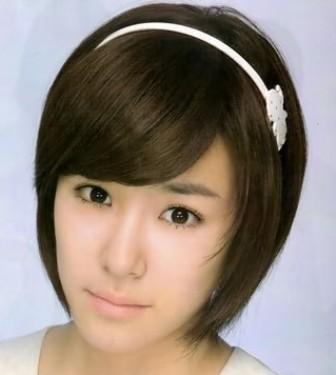 Contoh Potongan Model Rambut Pendek Untuk Wajah Bulat  LONG