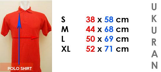 Ukuran Polo Shirt Polos