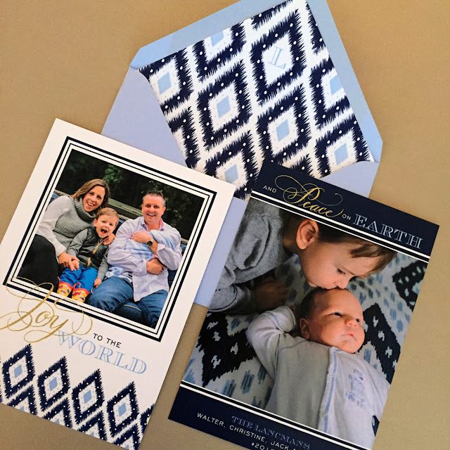 Custom Ikat Christmas Card