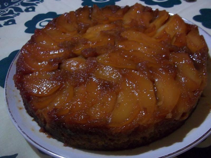 Baño Sencillo Para Tortas:para ello , esta exquisita tarta invertida de naranja y pera