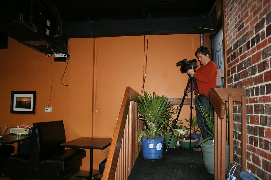filming at restaurant