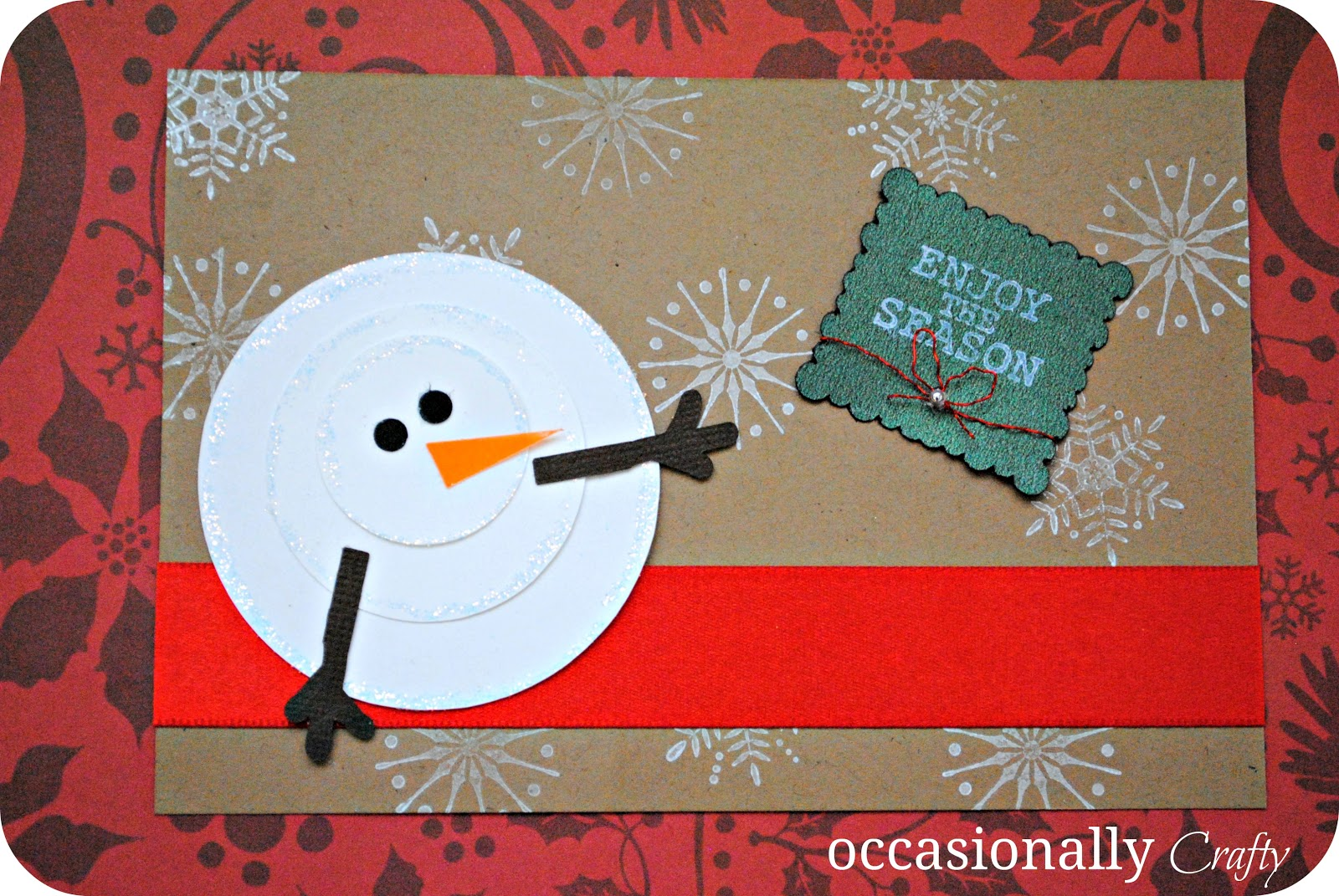 A handmade christmas occasionally crafty a handmade for Handmade christmas cards