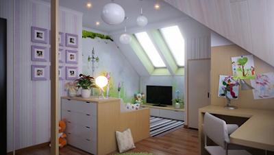 dormitorio juvenil abuhardillado