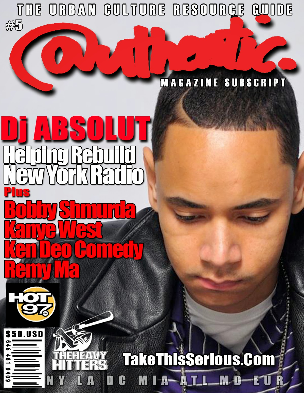 authentic magazine ken deo new york city DJ ABSOLUT ON HOT 97 authenticx.com