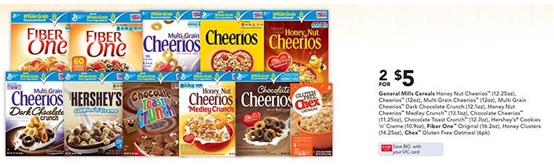 General Mills cereal sale at Harris Teeter