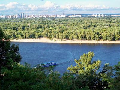 Вид на Днепр от памятника Владимиру Крестителю