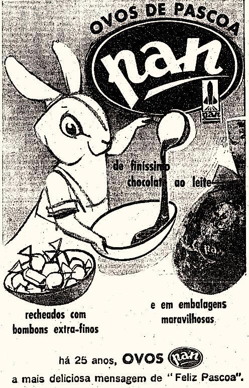 Propaganda dos Ovos de Páscoa Pan, de 1962.