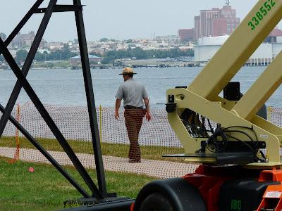 Park Ranger Checking our Work