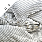 Natural stonewashed linen duvet cover  | HouseOfBalticLinen