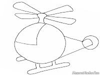 Ayo Mewarnai Gambar Helicopter