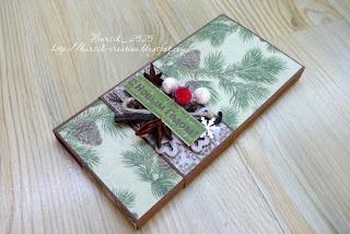 новогодняя шоколадница, подарок своими руками