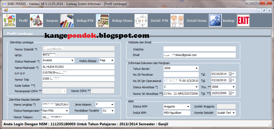 Download Aplikasi Desktop EMIS 2014 Terbaru