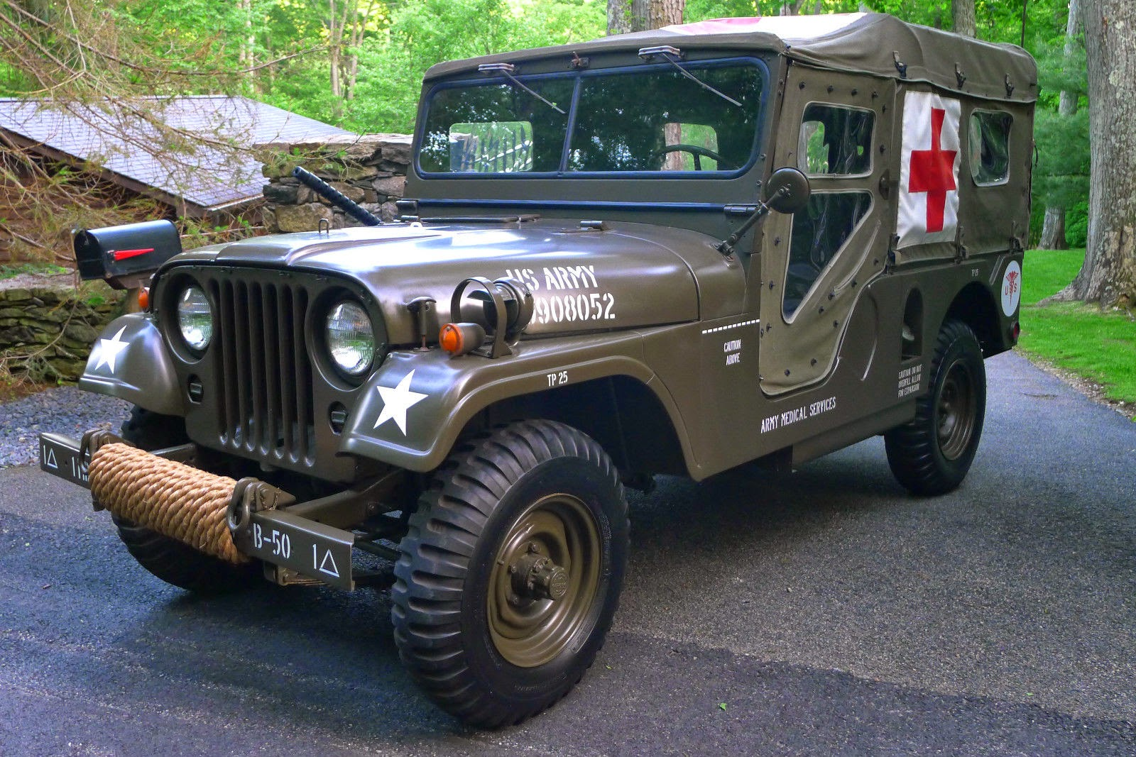 1955 willys military jeep ambulance m 170 auto restorationice. Black Bedroom Furniture Sets. Home Design Ideas