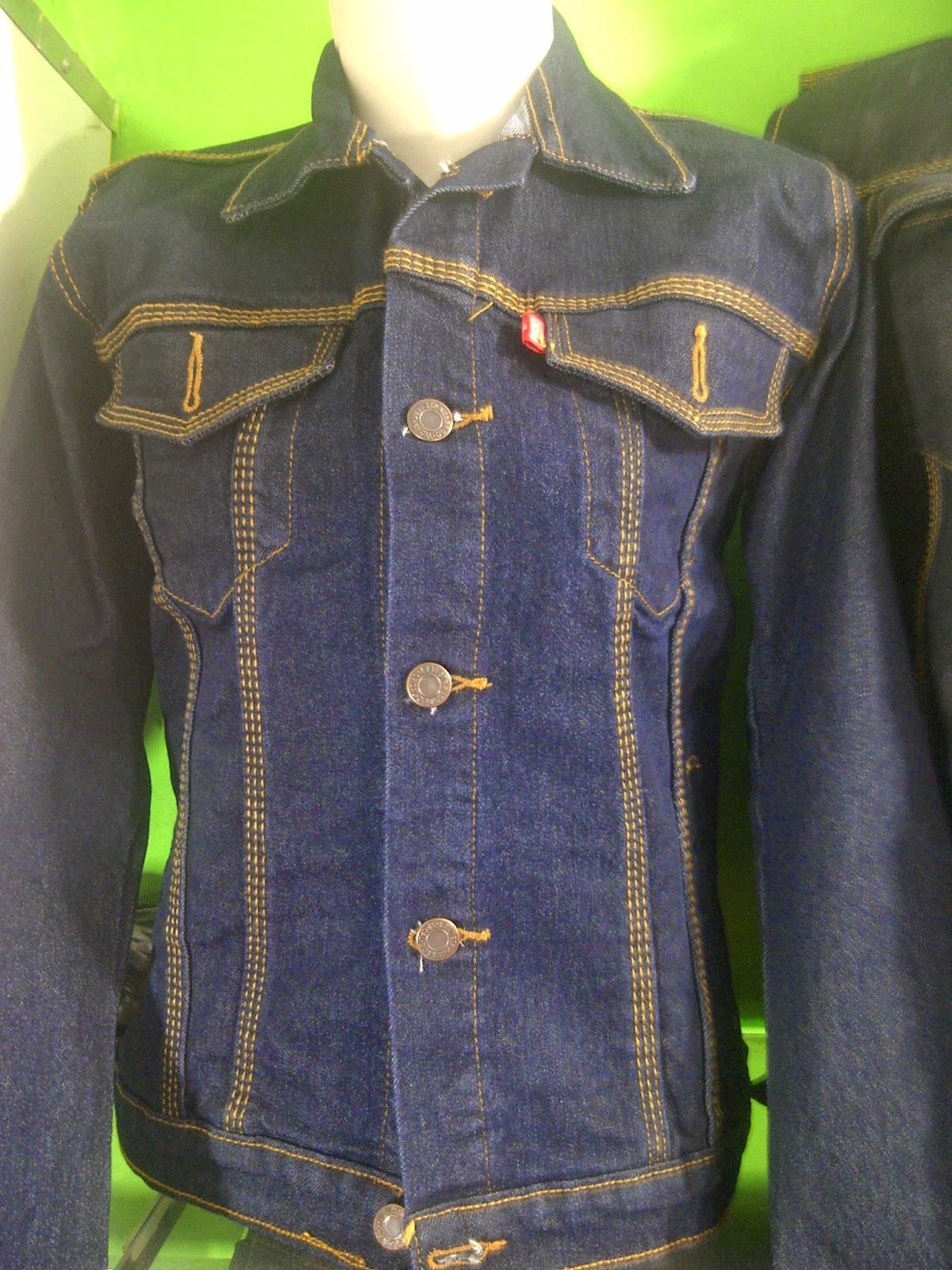 Jaket Jeans wanita, jaket jeans blue black, jake jeans biru dogker