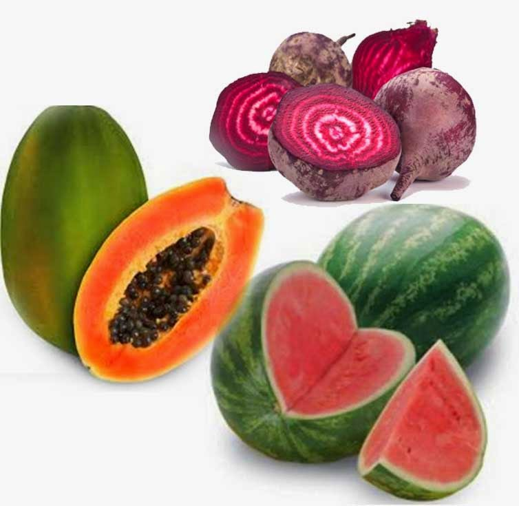 manfaat jus pepaya semangka buah bit