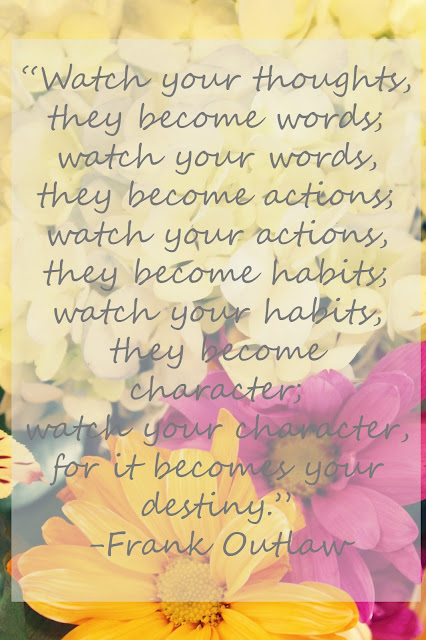 your thoughts become your actions quote