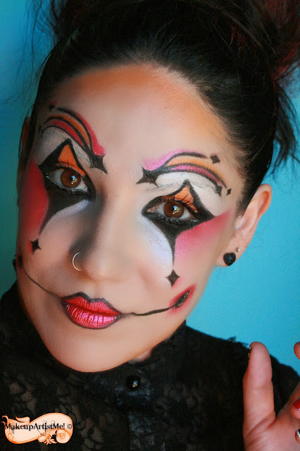 make up artist me harlequin costume makeup 3 part tutorial. Black Bedroom Furniture Sets. Home Design Ideas