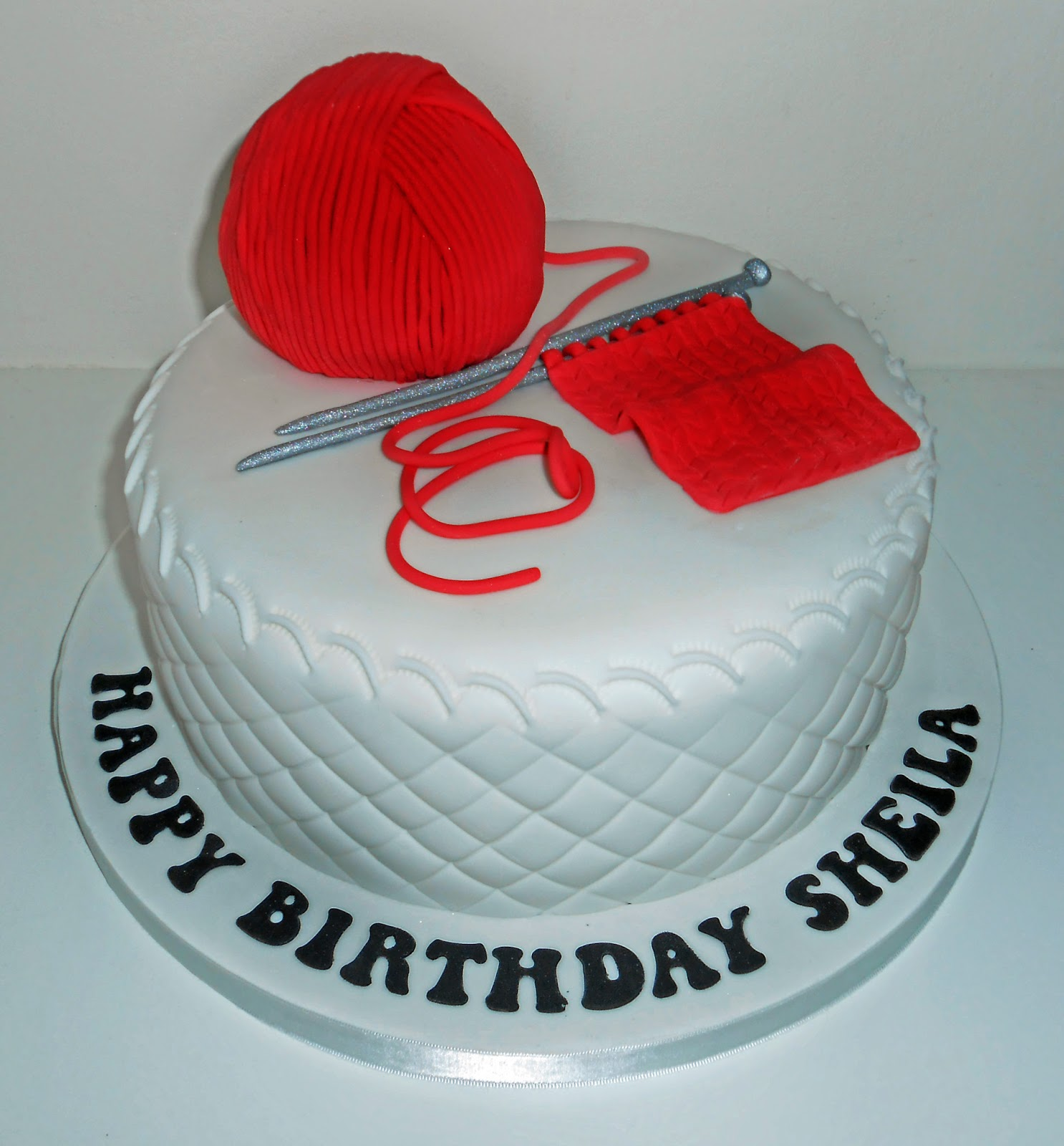 The Coloured Bubble Cakery Knitting Cake