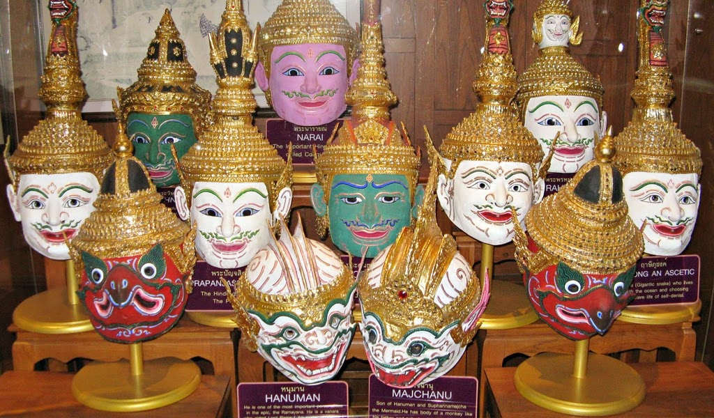 Khon masks on display