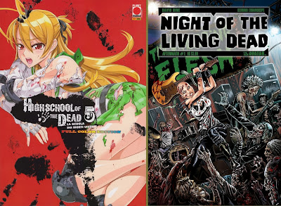 Highschool of the Dead color #5 e La notte dei morti viventi #1