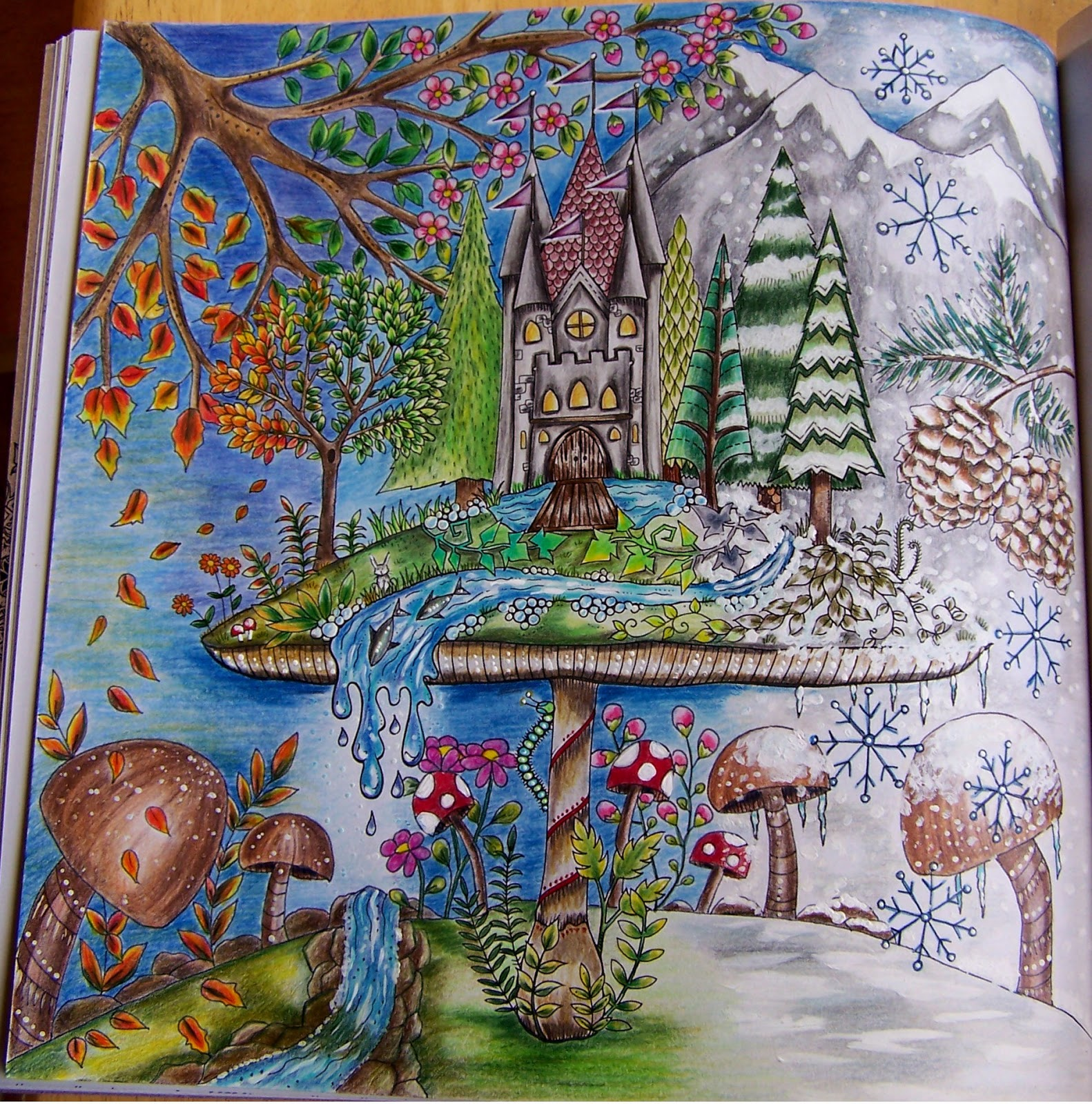 91 The Enchanted Forest Coloring Book Finished