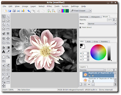 Krita - creative application for raster images