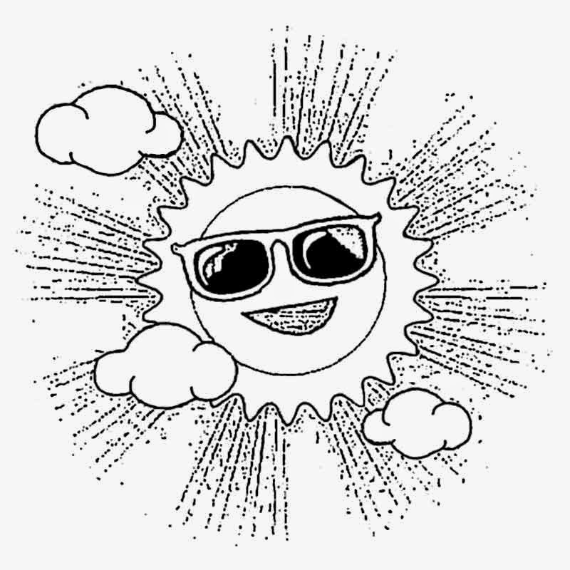 cartoon sunglasses basic coloring in pages to print out pictures to color activities for preschool - Pages To Color