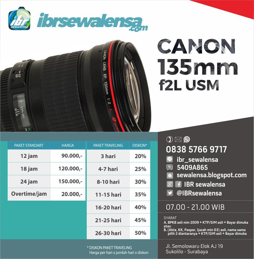 Sewa lensa Canon 135mm f2 L