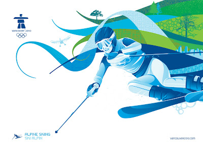 Free Vancouver 2010 Olympic Winter Games PowerPoint Background 32
