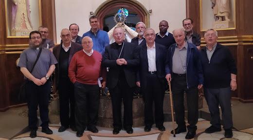 Els preveres i diaques de l'arxiprestat de Reus amb el Sr. Arquebisbe de Tarragona al Santuari