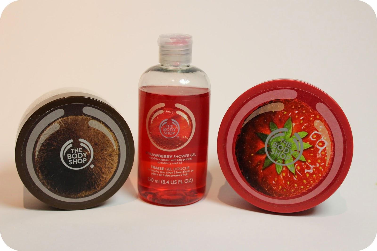 The Body Shop Body Butter Body Peeling in Strawberry und Coconut Kokosnuss