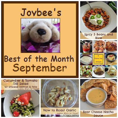 Best of the Month September 2015:  A recap of my most popular posts from last month (September 2015).