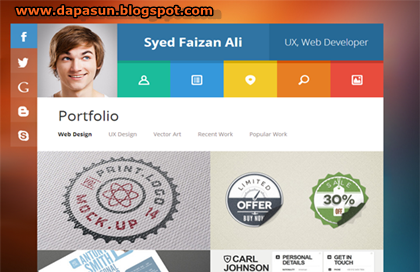 New Vcard Responsive Blogger Template