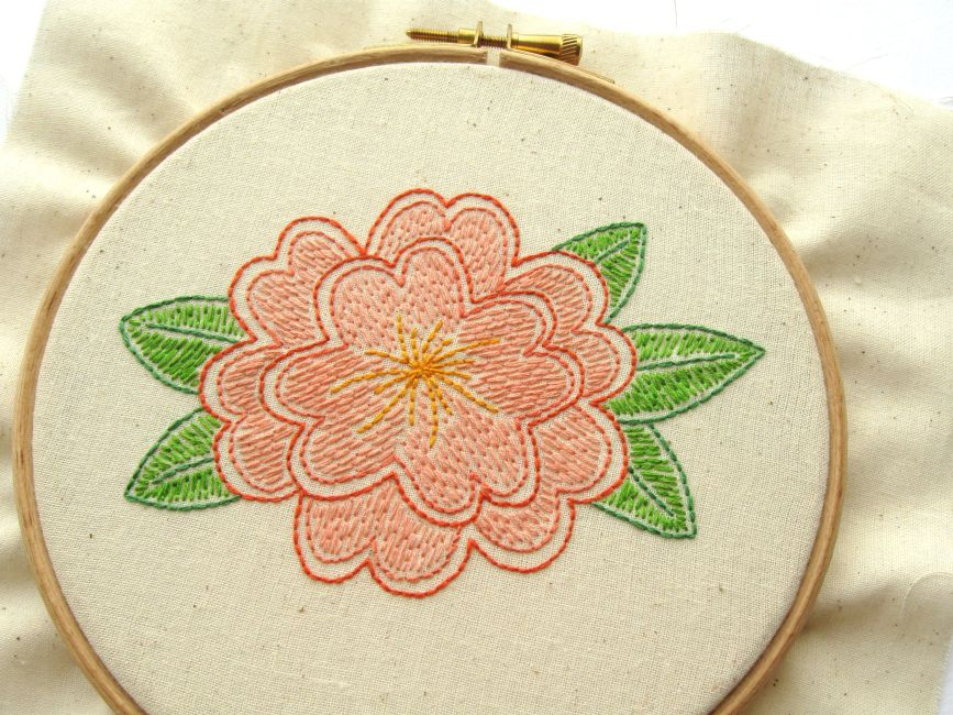 Bugs and Fishes by Lupin: Free Flower Embroidery Pattern