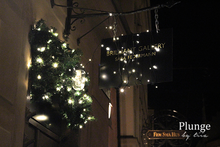 Christmas lights in Gamla stan, Stockholm