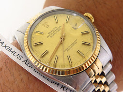 ROLEX OYSTER PERPETUAL DATE JUST GOLD LINEN TEXTURE DIAL - ROLEX 16013 GOLD LINEN TEXTURE DIAL