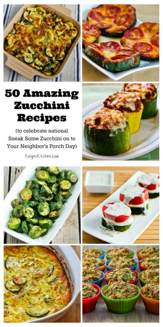 50 Amazing Zucchini Recipes [from KalynsKitchen.com]