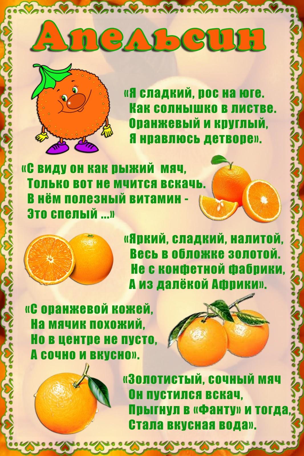 Слова к подарку фрукты