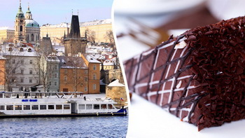 Prague cruise with dessert