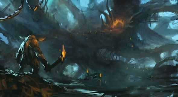 Grosnez deviantart illustrations fantasy science fiction Goblins' lair