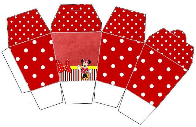 Cajas para imprimir gratis de minnie mouse en rojo for Cajas personalizadas con fotos