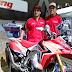 Honda expone la CRF 450 rally en el salón del Automovil de San Pablo