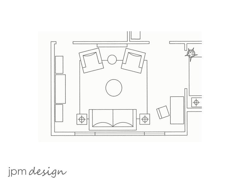 Jpm design for Living room floor plan layout