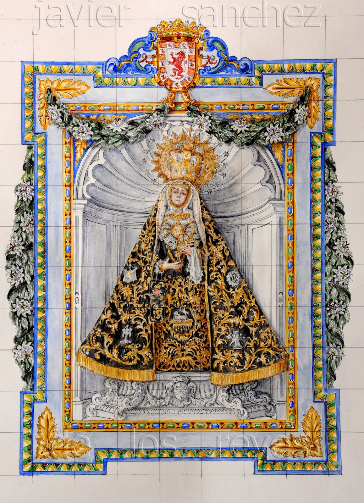 Javier s nchez de los reyes proyecto de retablo de for El ceramista cordoba
