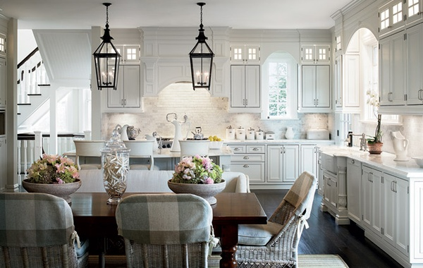 White Hampton Style Kitchen