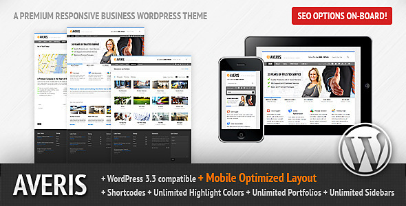 ThemeForest - Averis Responsive Business WordPress Theme